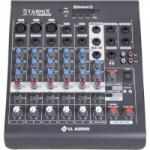 Mesas de Som C/ 06 Canais Stereo Starmix XMS602R Cinza LL AUDIO