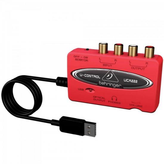 Interface Digital de Áudio USB U-CONTROL UCA222 Vermelho BEHRINGER