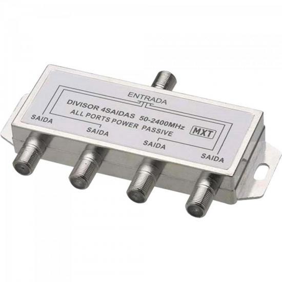 Divisor Splinter Blindado 1x4 50~2400MHz Cromado MXT | GTC