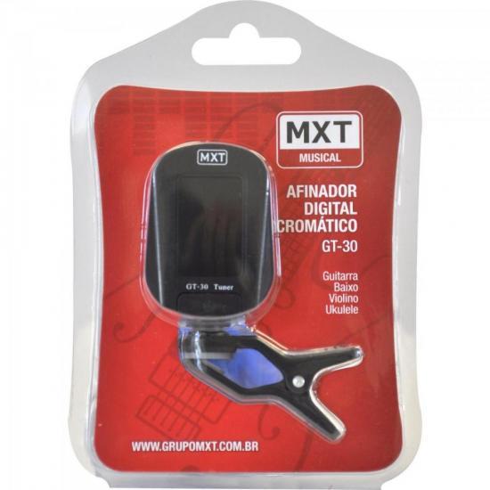 Afinador Digital Cromático GT-30 CLIP Preto MXT