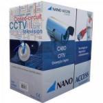 Cabo CFTV UTP 305m 04x24AWG Azul NANO ACCESS