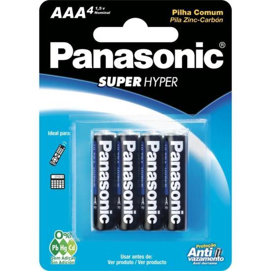 Pilha AAA Palito 1,5V R03UAL/4B400 PANASONIC