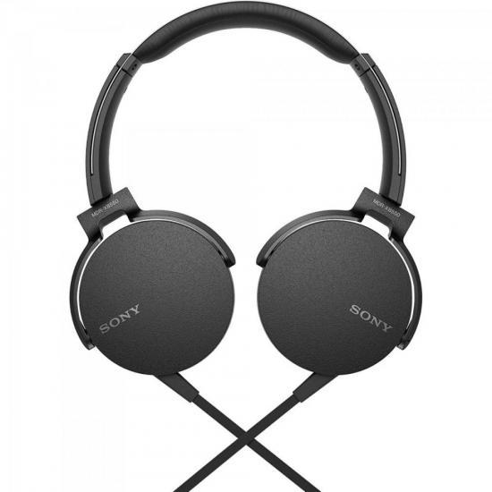 Fone de Ouvido com Microfone MDR-XB550AP/B Preto SONY | GTC