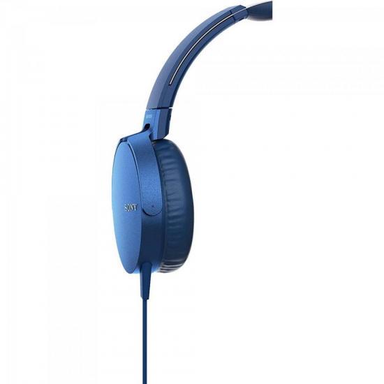 Fone de Ouvido com Microfone MDR-XB550AP/L Azul SONY | GTC