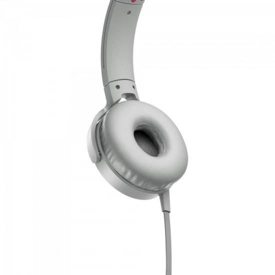Fone de Ouvido com Microfone MDR-XB550AP/W Branco SONY | GTC