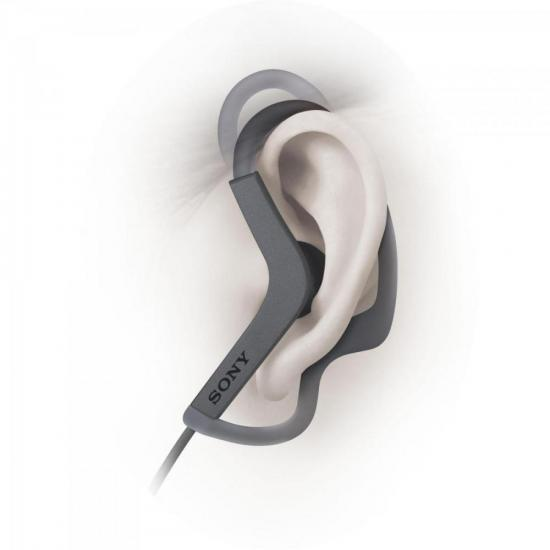 Fone de Ouvido Esportivo Resistente à Água EXTRA BASS MDR-AS210/B Preto SONY | GTC