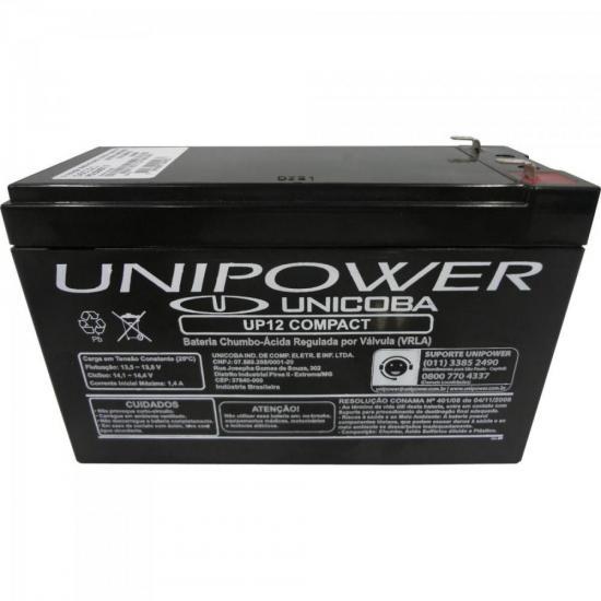 Bateria Selada UP12 COMPACT 12V/6A UNIPOWER