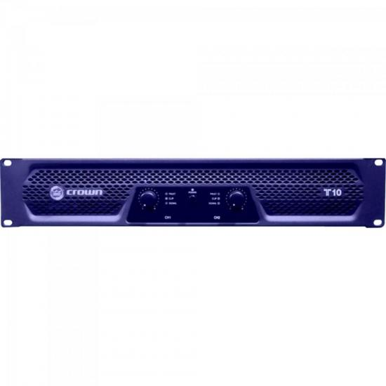 Amplificador 1000W 8 Ohms 220V T-10 Azul CROWN