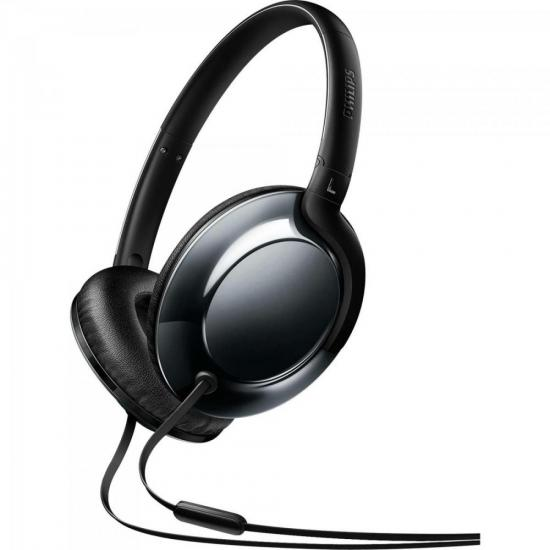 Fone De Ouvido Headband On Ear Com Microfone SHL4805DC/00 Preto PHILIPS