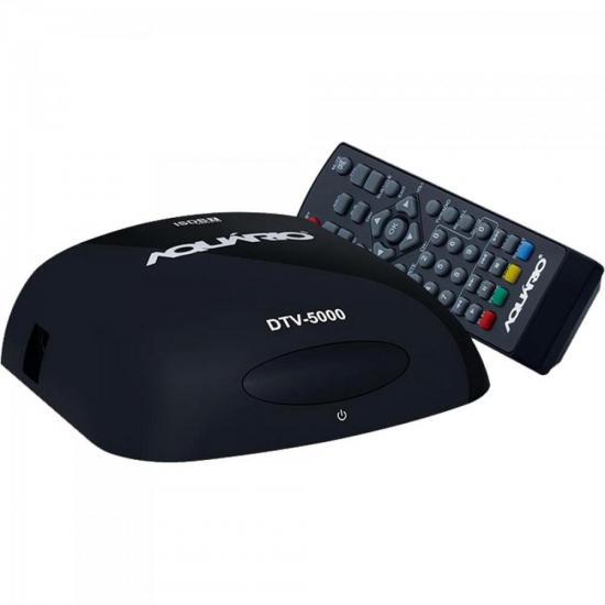 Conversor Digital S/ Cabo DTV5000 Preto AQUARIO