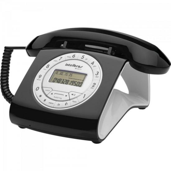 Telefone Retro TC8312 Preto INTELBRAS
