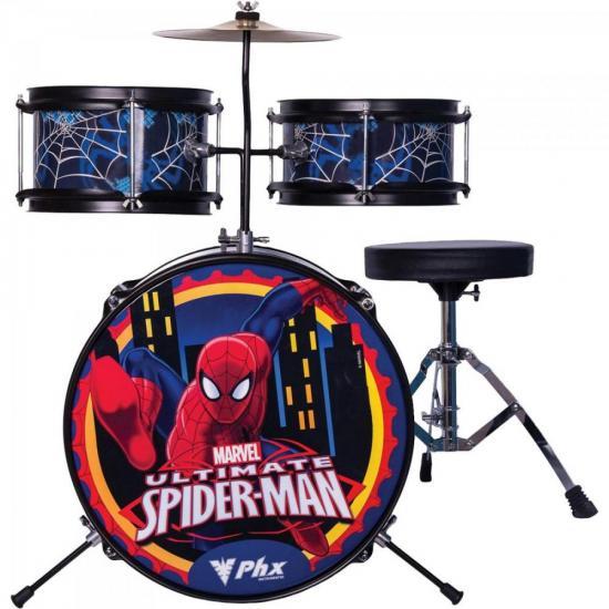 Bateria Infantil Marvel Spider BIM-S1 Azul