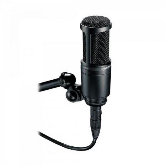 Microfone Condensador Cardioide AT2020 Preto AUDIO TECHNICA