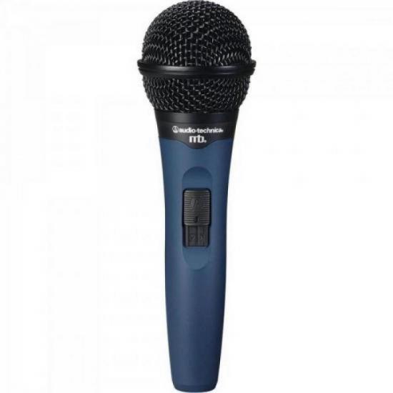 Microfone Profissional com Fio Dinâmico Cardióide MB1K/CL Azul e Preto AUDIO TECHNICA