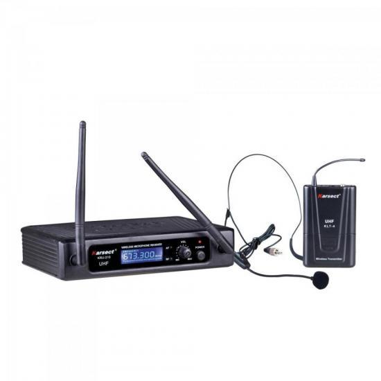 Microfone Auricular Headset Sem Fio KRU210H Preto KARSECT