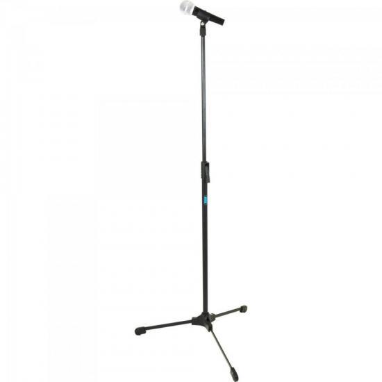 Pedestal Reto de Microfone ideal para Estúdio TPR Preto ASK