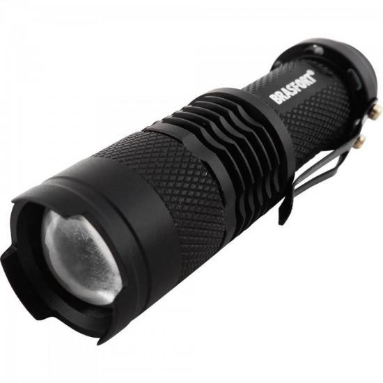 Lanterna LED C/Zoom Mini Preto BRASFORT