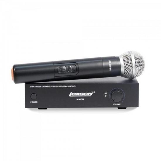 Microfone Dinâmico s/Fio LM-WF58 Preto LEXSEN