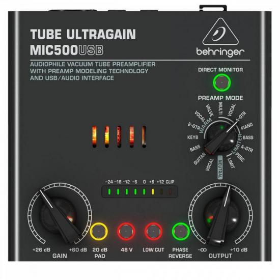 Pré Amplificador MIC500USB Preto BEHRINGER