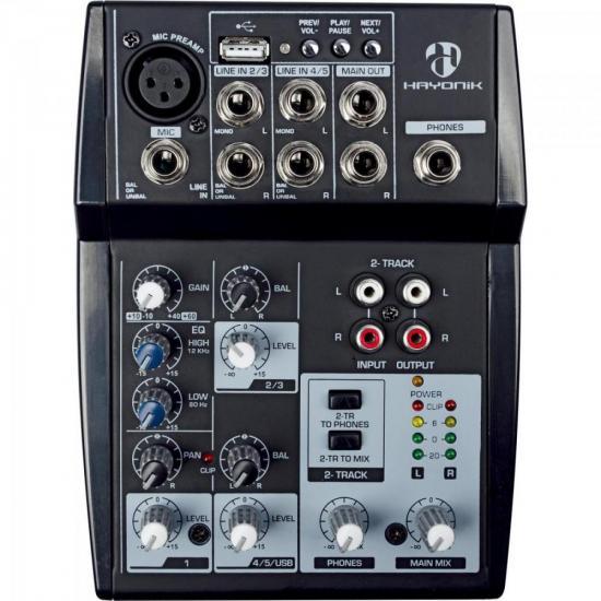 Mesa de Som 5 Canais USB HMX-105 HAYONIK