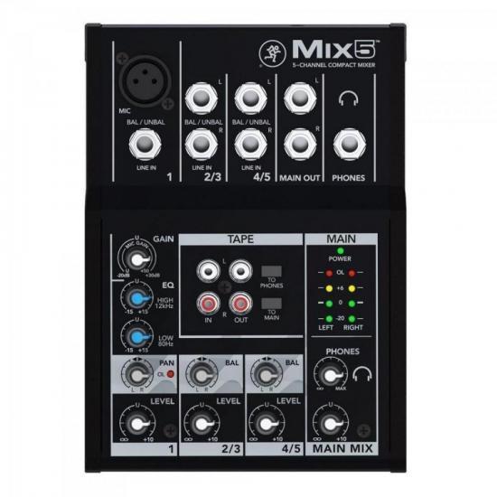 Mixer MIX 5 Preta MACKIE