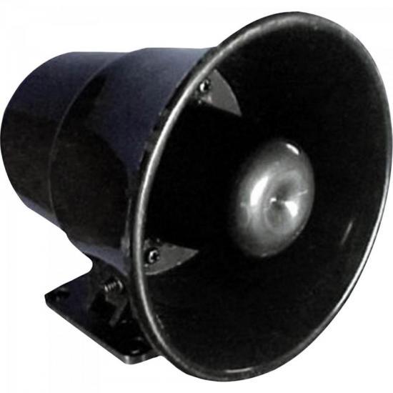Sirene Eletronica P/ Alarmes c/ Gravação de Voz 8W 12V 115DB Preto DNI