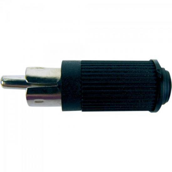 Plug RCA Macho 122 Preto EMETAL