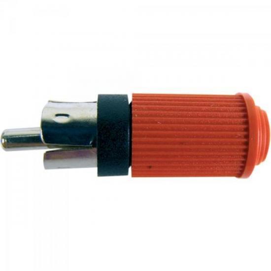 Plug RCA Macho 122 Vermelho EMETAL