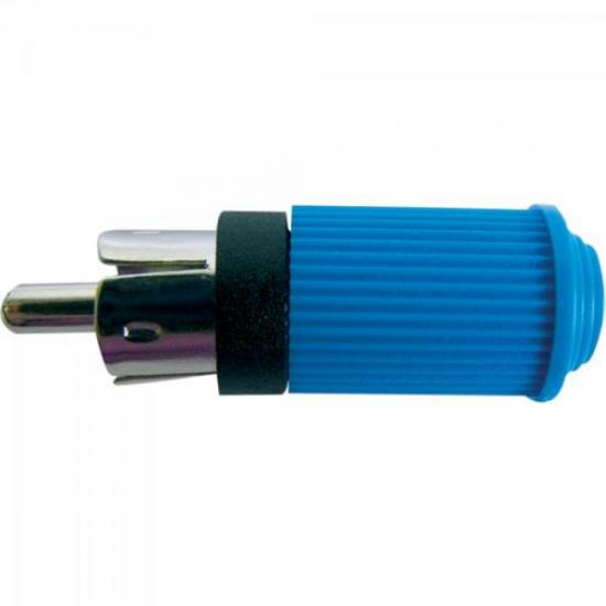 Plug RCA Macho 122 Azul EMETAL