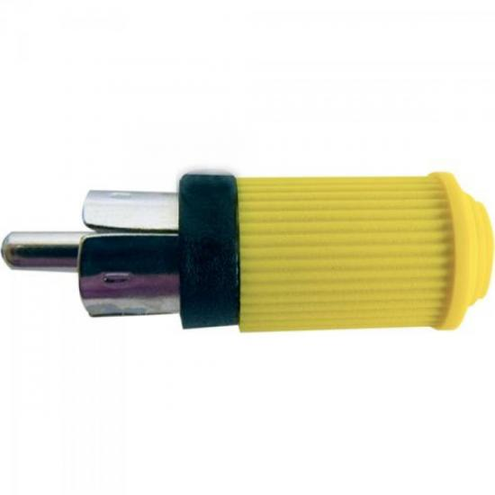 Plug RCA Macho 122 Amarelo EMETAL