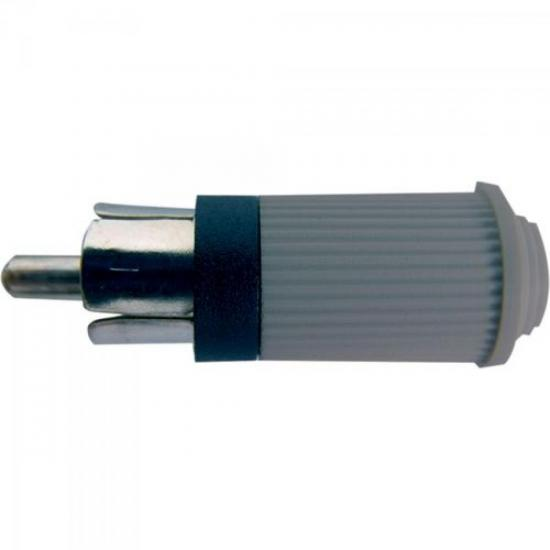 Plug RCA Macho 122 Cinza EMETAL