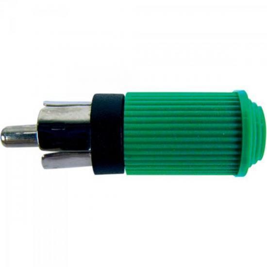 Plug RCA Macho 122 Verde EMETAL
