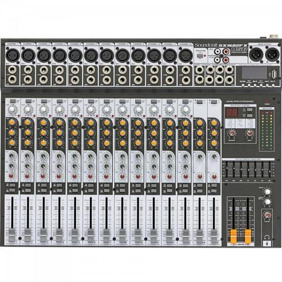 Mesa de Som 16 Canais USB SX1602FX Preto SOUNDCRAFT