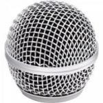 Globo Metálico para Microfone sem Fio 56mm Prata MXT